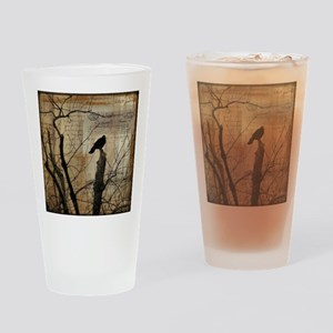 Crow Collage Drinking Glass