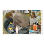 Degas: The tub nowadays Sticker