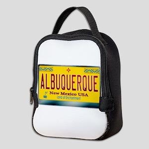 newmexico_licenseplate_albuquer Neoprene Lunch Bag