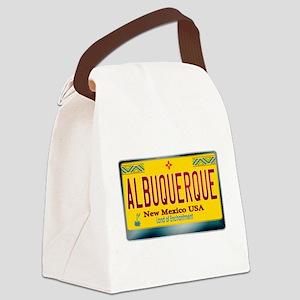 newmexico_licenseplate_albuquerqu Canvas Lunch Bag