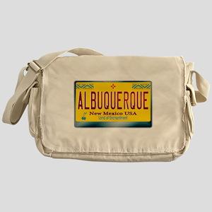newmexico_licenseplate_albuquerque.p Messenger Bag