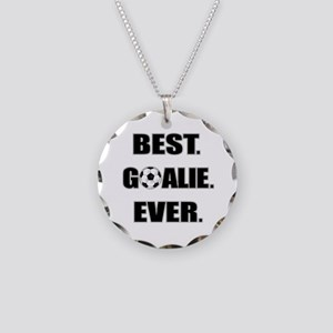 Best. Goalie. Ever. Necklace Circle Charm