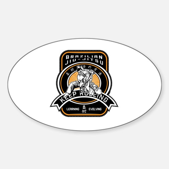 Unique Grappling Sticker (Oval)