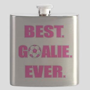 Best. Goalie. Ever. Pink Flask