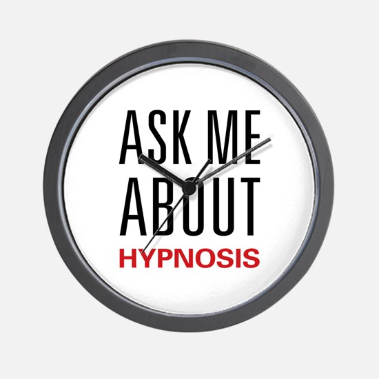 Ask Me About Hypnosis Wall Clock