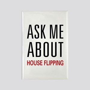 Ask Me House Flipping Rectangle Magnet