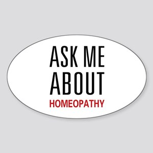 Ask Me Homeopathy Oval Sticker
