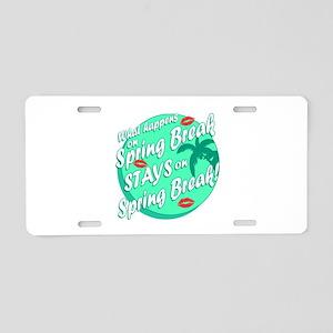 Spring Break Aluminum License Plate