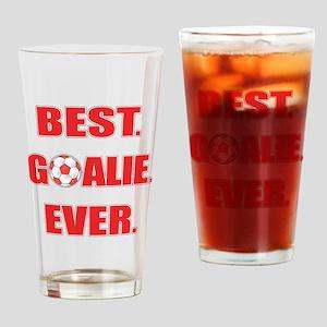 Best. Goalie. Ever. Red Drinking Glass