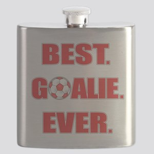 Best. Goalie. Ever. Red Flask