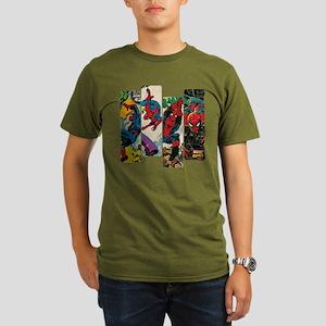Spiderman Comic Panel Organic Men's T-Shirt (dark)