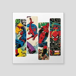 """Spiderman Comic Panel Square Sticker 3"""" x 3"""""""