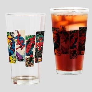 Spiderman Comic Panel Drinking Glass