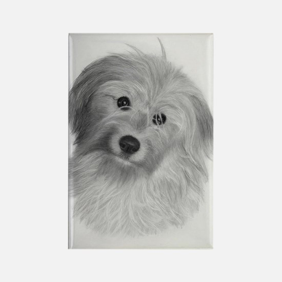 Cute Pyrenean shepherd Rectangle Magnet