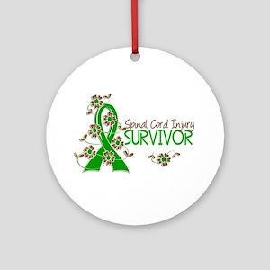 Spinal Cord Injury Survivor 3 Ornament (Round)