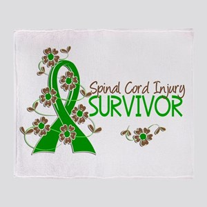 Spinal Cord Injury Survivor 3 Throw Blanket