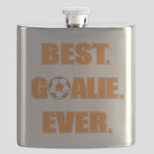 Best. Goalie. Ever. Orange Flask