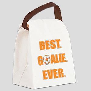 Best. Goalie. Ever. Orange Canvas Lunch Bag