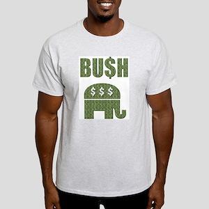 BU$H GOP Greed Ash Grey T-Shirt