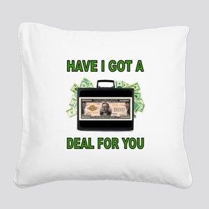 BIG DEAL Square Canvas Pillow