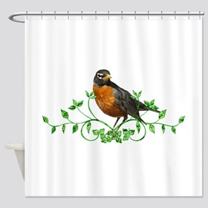 Beautiful Robin Shower Curtain