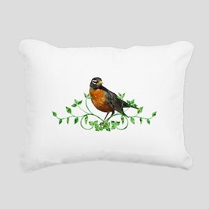 Beautiful Robin Rectangular Canvas Pillow