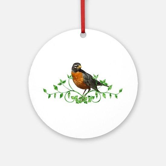 Beautiful Robin Ornament (Round)