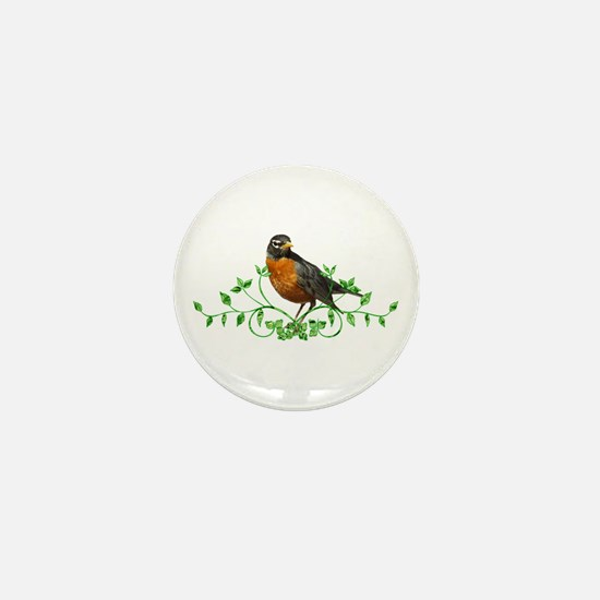 Beautiful Robin Mini Button