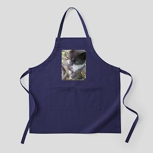 grey autumn cat Apron (dark)