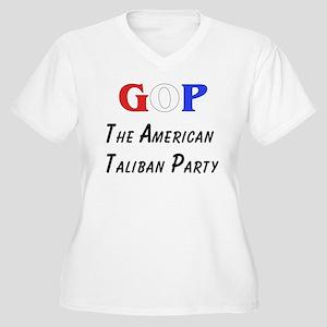 GOP American Taliban Women's Plus Size V-Neck T-Sh