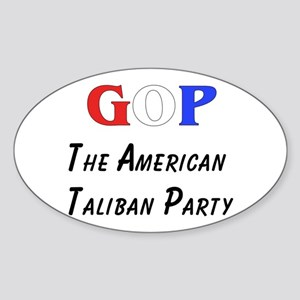 GOP American Taliban Oval Sticker