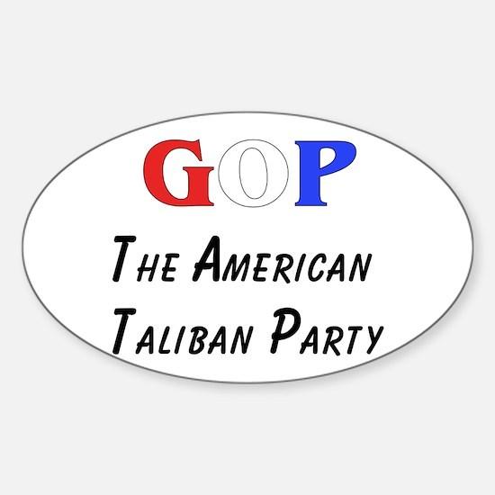 GOP American Taliban Oval Decal