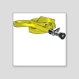 Yellow Fire Hose Sticker
