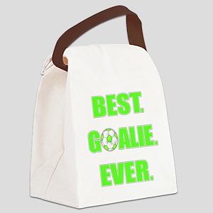 Best. Goalie. Ever. Green Canvas Lunch Bag