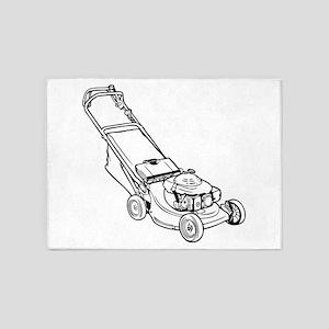 Push Lawnmower 5'x7'Area Rug