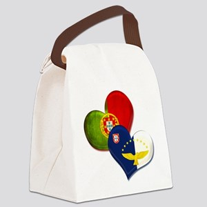 Portugal and Azores hearts Canvas Lunch Bag