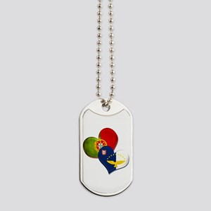 Portugal and Azores hearts Dog Tags