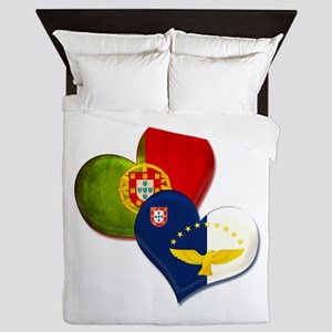 Portugal and Azores hearts Queen Duvet
