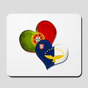 Portugal and Azores hearts Mousepad