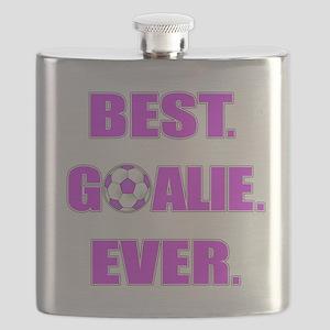 Best. Goalie. Ever. Purple Flask