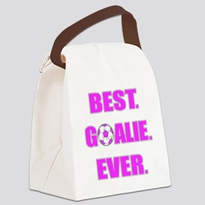 Best. Goalie. Ever. Purple Canvas Lunch Bag