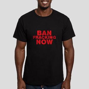 BAN FRACKING NOW Men's Fitted T-Shirt (dark)