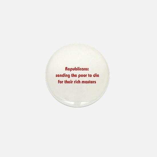 Rich Man's War Mini Button