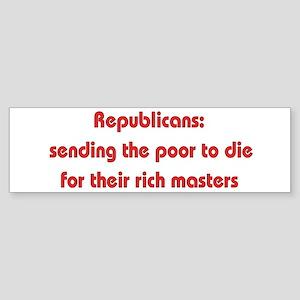 Rich Man's War Bumper Sticker