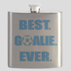 Best. Goalie. Ever. Blue Flask