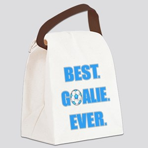 Best. Goalie. Ever. Blue Canvas Lunch Bag
