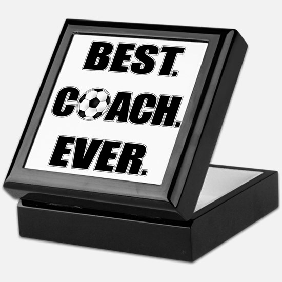 Best. Coach. Ever. Black Keepsake Box