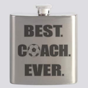 Best. Coach. Ever. Black Flask