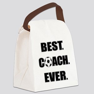 Best. Coach. Ever. Black Canvas Lunch Bag