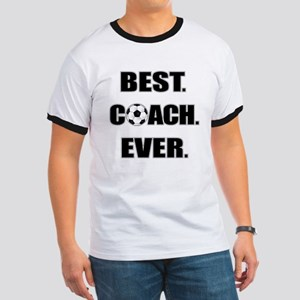 Best. Coach. Ever. Black Ringer T